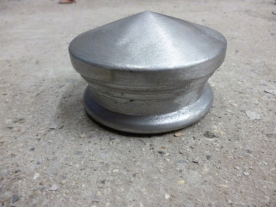 "Post Cap cast aluminium 2 3/4"" bore"