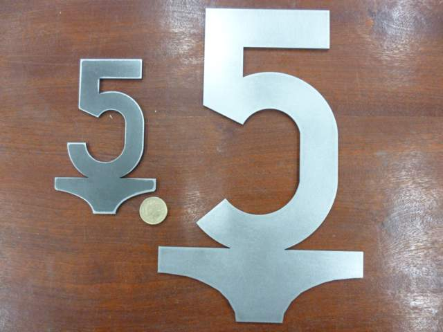 Large 5mph Speed Sign - Steel Profile