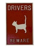 Driver beware of cat