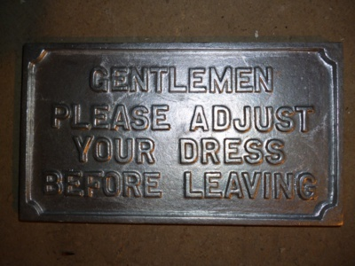 Small Gentlemen Adjust Your Dress
