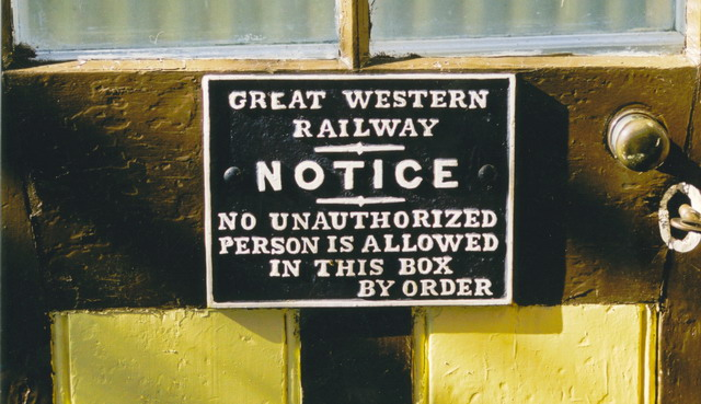 GWR S/Box Notice (Small)