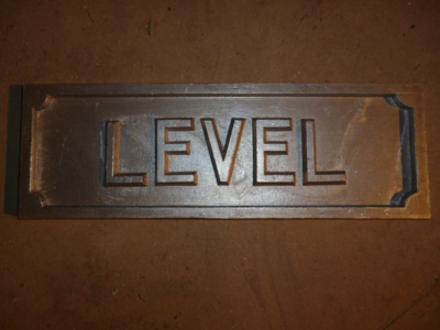 LEVEL sign