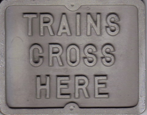 Trains Cross Here - Mini