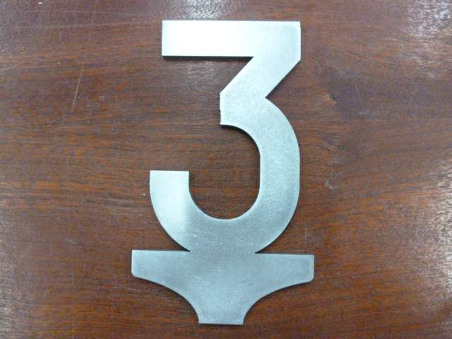 3mph Speed Sign - Steel Profile