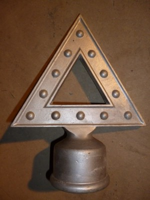 "Warning Triangle - Large for 2.5"" dia. Post"